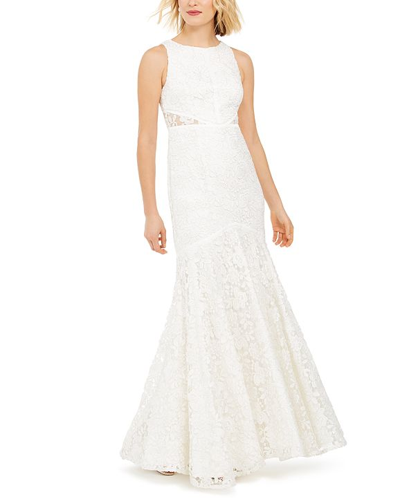 Adrianna Papell Lace Bridal Gown