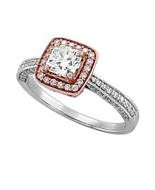 Diamond (1 ct. t.w.) Engagement Ring in 14K Rose and White Gold