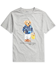 Big Boy Beach Bear Cotton Jersey T-Shirt