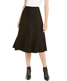 Faux-Suede Scuba Midi Skirt, Created For Macy's