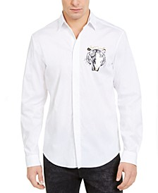 Men's Slim-Fit Animal Print Shirt