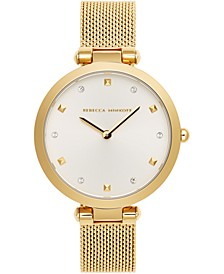 Women's Nina Gold-Tone Stainless Steel Mesh Bracelet Watch 33mm