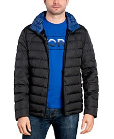 Michael Kors Men's Big & Tall Down Blend Puffer Jacket, Created for Macy's