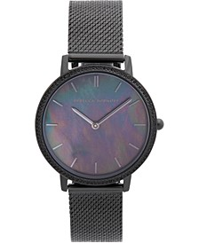 Women's Major Black Stainless Steel Mesh Bracelet Watch 35mm