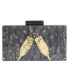 INC Champagne Flutes Box Clutch, Created for Macy's