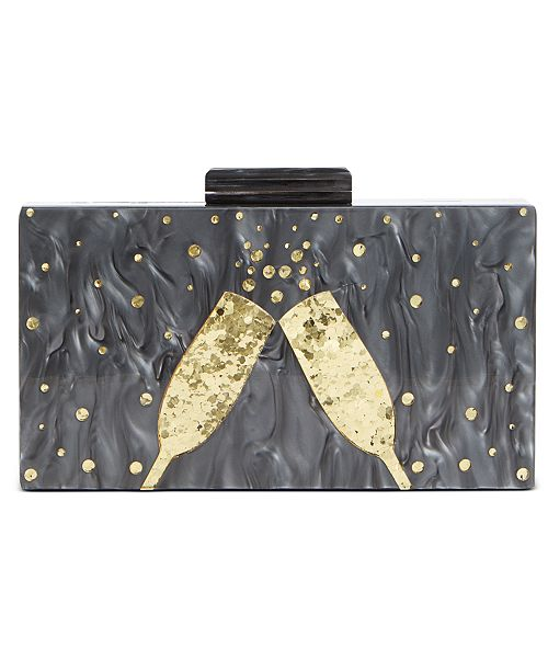 INC International Concepts INC Champagne Flutes Box Clutch, Created For Macy's