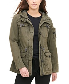 Women's Hooded Military Jacket