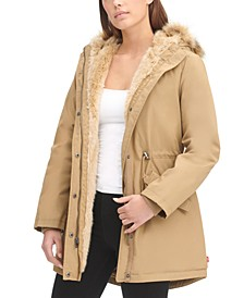 Women's Arctic Cloth Faux-Fur-Trim Parka
