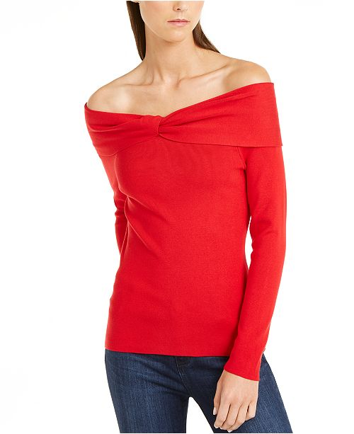 INC International Concepts INC Twist Off-The-Shoulder Sweater, Created for Macy's