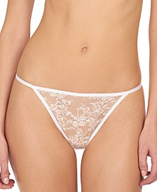 Obsession Women's Floral Embroidered Lace Thong 771234