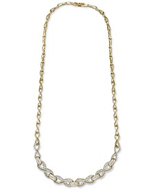"Diamond Infinity Link 17"" Statement Necklace (2 ct. t.w.) in 14k Gold-Plated Sterling Silver, Created for Macy's"
