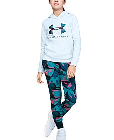 Girls' Rival Print Fill Logo Hoodie