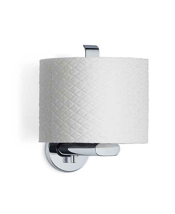 blomus Wall Mounted Toilet Paper Holder - Vertical - Polished - Areo
