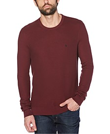 Men's Regular-Fit Yarn-Dyed Tuck Stitch Sweater