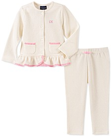 Baby Girls 2-Pc. Pointelle Cardigan & Pants Set