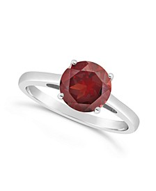 Garnet (2-1/3 ct. t.w.) Ring in Sterling Silver. Also Available in London Blue Topaz (2-3/8 ct. t.w.) and Citrine (1-7/8 ct. t.w.)