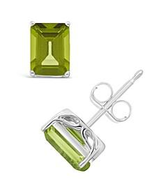 Peridot (3-3/8 ct. t.w.) Stud Earrings in Sterling Silver