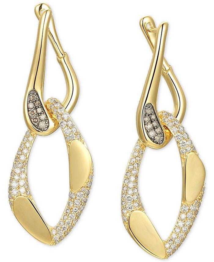 Le Vian - Nude Diamond Chain Link Drop Earrings (2-1/6 ct. t.w.) in 14k Gold