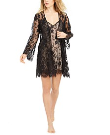 INC Floral Lace Chemise Nightgown & Robe Collection, Created for Macy's