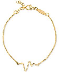 Heartbeat Link Bracelet in 14k Gold-Plated Sterling Silver