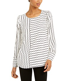 Printed Puff-Sleeve Blouse, Created For Macy's