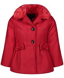 Toddler & Little Girls Faux-Fur-Collar Coat