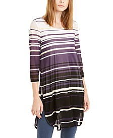 Striped Round-Hem Tunic, Created for Macy's