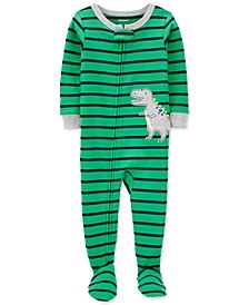Toddler Boys 1-Pc. Cotton Striped Dinosaur Footie Pajama