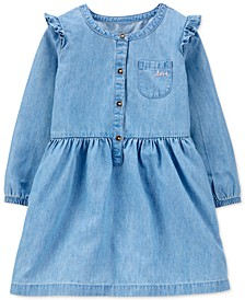 Toddler Girls Chambray Shirtdress