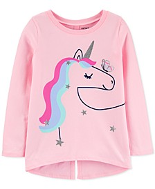 Little & Big Girls Cotton Unicorn-Print T-Shirt