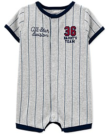 Baby Boys Cotton Daddy's Team Romper