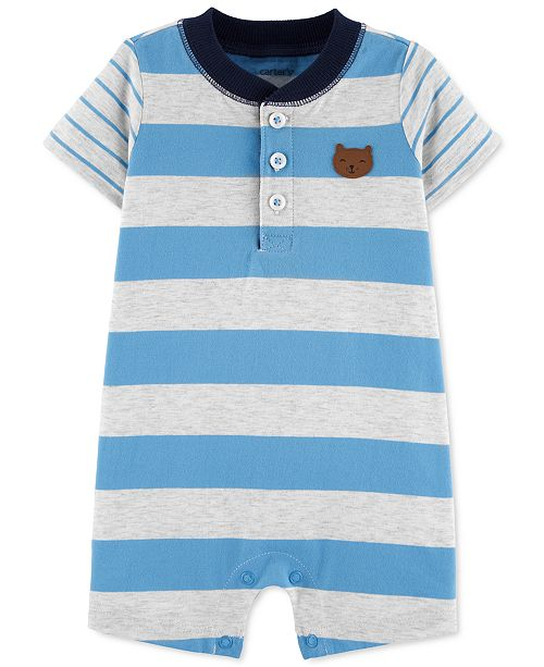Carter's Baby Boys Striped Cotton Romper