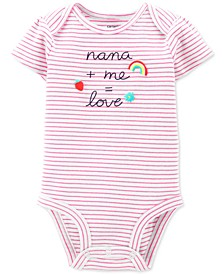 Baby Girls Cotton Nana & Me Bodysuit