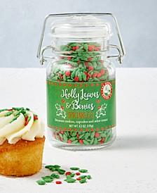Holly Leaves & Berries Sprinkles