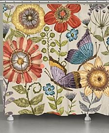 Boho Butterfly Shower Curtain