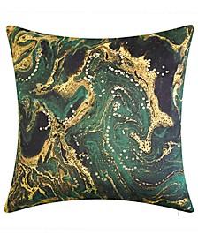 Malachite Crystal Decorative Pillow
