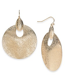 Silver-Tone Sculptural Disc Drop Earrings, Created for Macy's