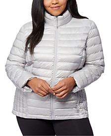 Plus Size Down Packable Puffer Coat