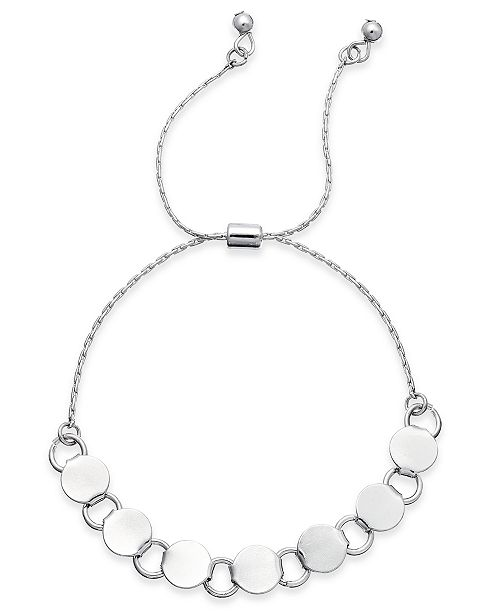 Charter Club Silver-Tone Circle Slider Bracelet, Created for Macy's