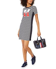 Striped T-Shirt Dress, Created For Macy's