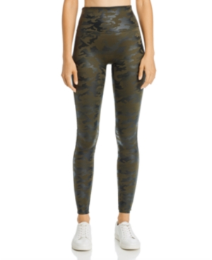 Spanx Pants CAMO FAUX-LEATHER LEGGINGS