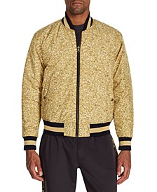 Men's Slim-Fit Sequin Reversible Bomber