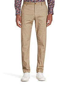 Men's Straight-Fit Stretch Geo Houndstooth Pants