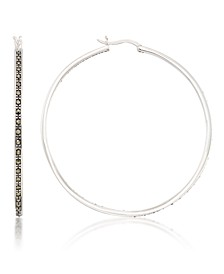 Marcasite and Inside Out 48mm Round Hoops in Sterling Silver