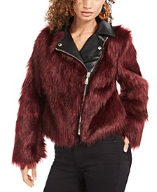 Savage Faux-Fur Moto Coat