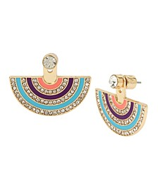 Pave Rainbow Front Back Earrings