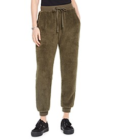 Juniors' Plush Jogger Pants