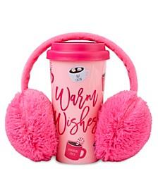 """""""Warm Wishes"""" Travel Mug & Earmuff Gift Set"""