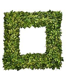 "20"" Square Preserved Boxwood Wreath"