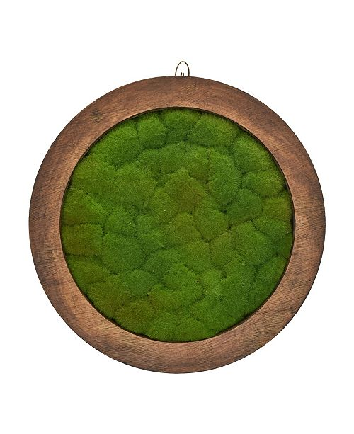 "Mills Floral 16"" Faux Mood Moss Bowl"